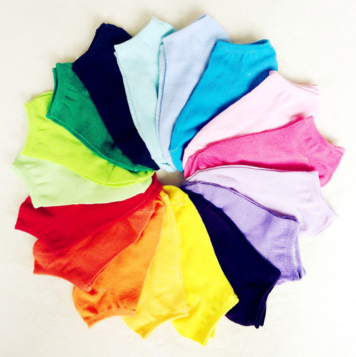 Free shipping Wholesale candy color sock slippers thin invisible  ladies' socks solid color student socks 50pair/lot