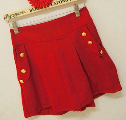 Free Shipping Wholesale Fashion women high waist Cotton shorts with button Ladies' Shorts Trousers Casual Pants