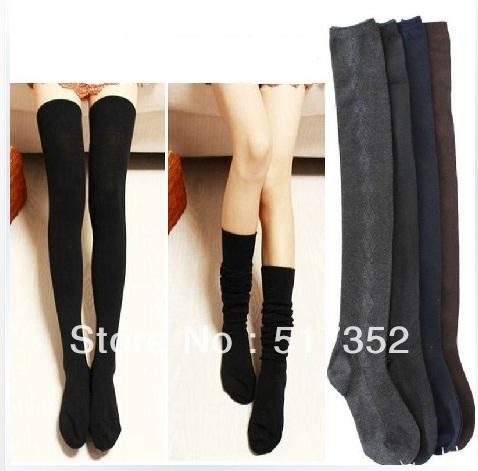 Free Shipping Wholesale hot sale Women's Cotton over-the-knee Japanese Korean Cute Sweet Socks stockings Thermal legs kneepad