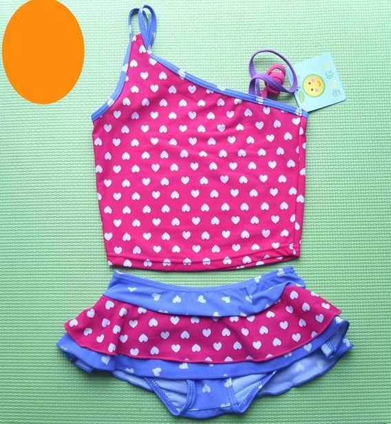 Free shipping wholesale kids girls swimwear swimsuits for girl 2 PC Tankinis kids girls swimming suits 10pcs/lot