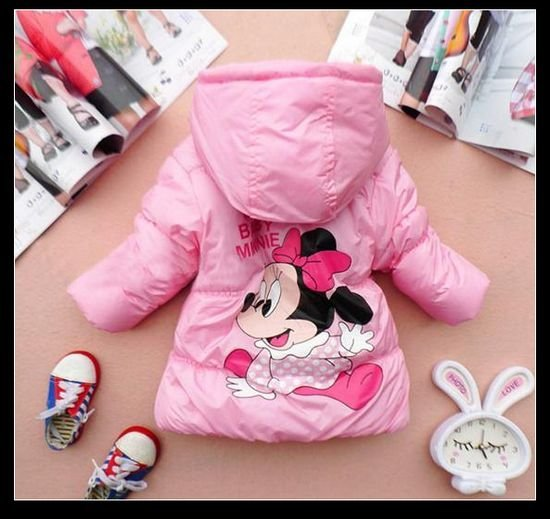 Free shipping wholesale Minnie mouse Winter Jacket 4pcs/lot christmas costumes for children clothing Kids clothes Coat