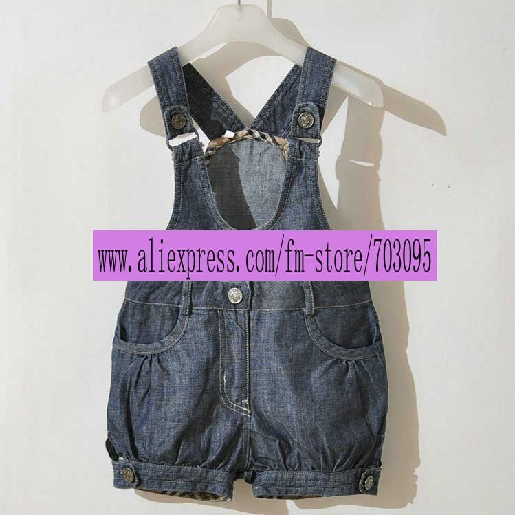Free shipping wholesale mix sizes Children jeans suspenders child suspender trousers shorts, children overalls, Denim Bib pants