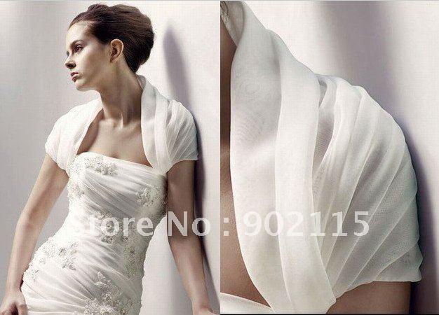 Free Shipping Wholesale Organza Custom Made Bridal Wedding Jacket