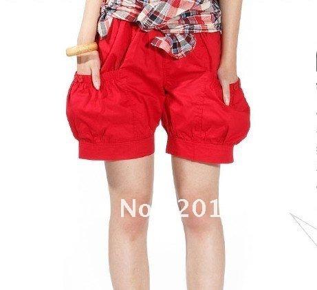 Free Shipping[Wholesale&Retail]2013 Summer Korea Fashion Loose Shorts Pants Causal Cotton Women Shorts Plus Size:L-XXXL DK005