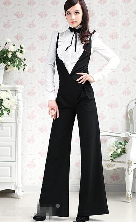 Free Shipping Wholesale/Retail Korean Jumpsuit Women Pretty Romper Fashion Trousers Ladies pants Cotton