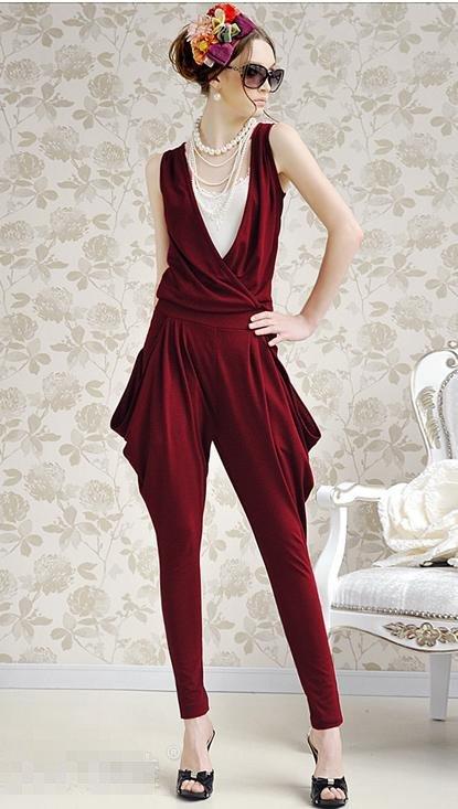 Free Shipping Wholesale/Retail Korean Modern Jumpsuit Romper Fashion Trousers pants Women
