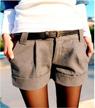 free shipping wholesale Two Colors 2013 Autumn Winter Women's Turn-Up Straight Boot Cut Plus Large Casual Shorts S-XXL
