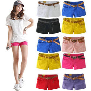 Free Shipping Wholesale Women Pants new arrival candy color shorts multicolour single shorts pants for women QY9104SK