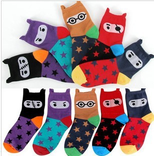 Free Shipping Wholesales New Arrival Korea Cute Creative Pirate Pentagram Cotton Ladies Socks  FC12218