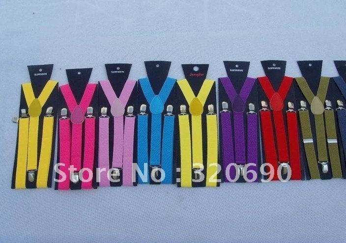 Free shipping wholesales &retail,20pcs/lot,Fashion belt/candy color clip on Braces/ Elastic Y-back Suspenders/Adjustable Braces