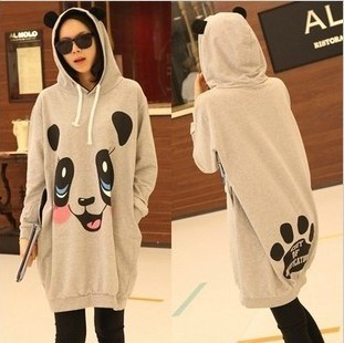 Free Shipping Winter thickening maternity clothing maternity clothing big panda cap maternity outerwear