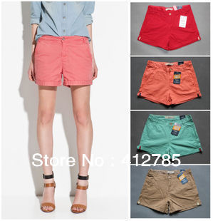 Free Shipping Woman Casual Candy Color Shorts Fashion Haren Cotton Hot Pants Overall Leisure Shorts Quality Designer S372