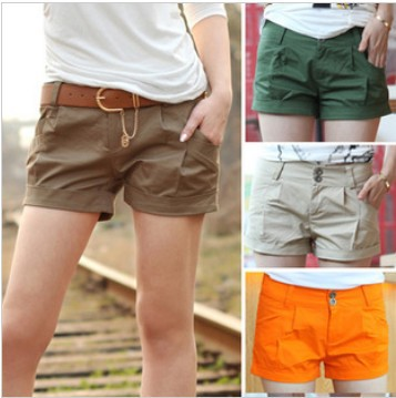 Free Shipping Women Fashion Shorts Leasure Bootcut Short Pants Casual Wear Plus Size S/M/L/XL/XXL/XXXL 4 Colors DK-012