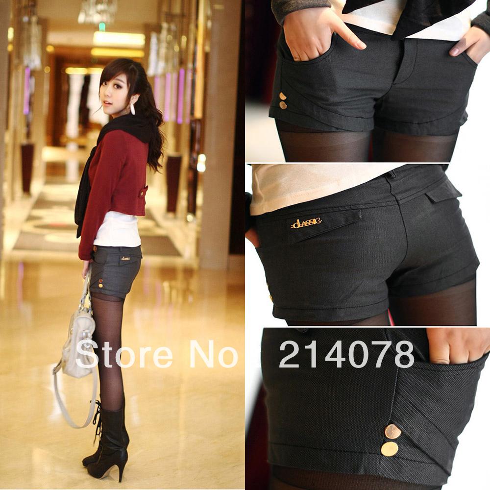 free shipping women fashion skinny sexy cotton shorts