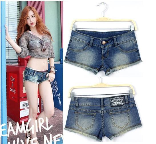 Free shipping,Women Jeans,Fashion Wornout Hot Pants,Lady Wash Denim High-waist Shorts