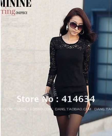 Free shipping women ladies sexy cotton lace dress, maxi leisure dress S M L XL for seasons promotion