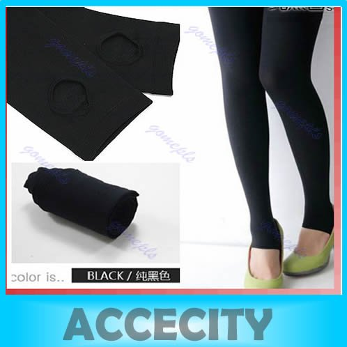 Free shipping Women Opaque Stirrup Legging Tights Warm Stretch Winter Pants Stockings Black