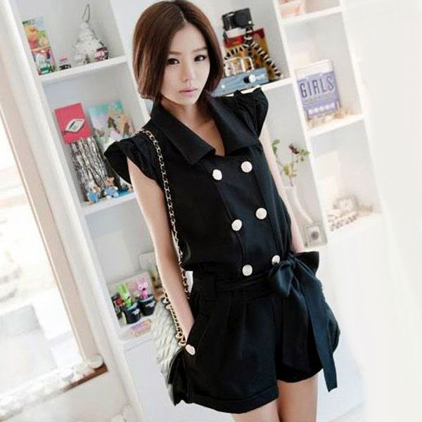 Free shipping, Women's 2012 summer sexy fashion slim jumpsuit casual jumpsuit short trousers
