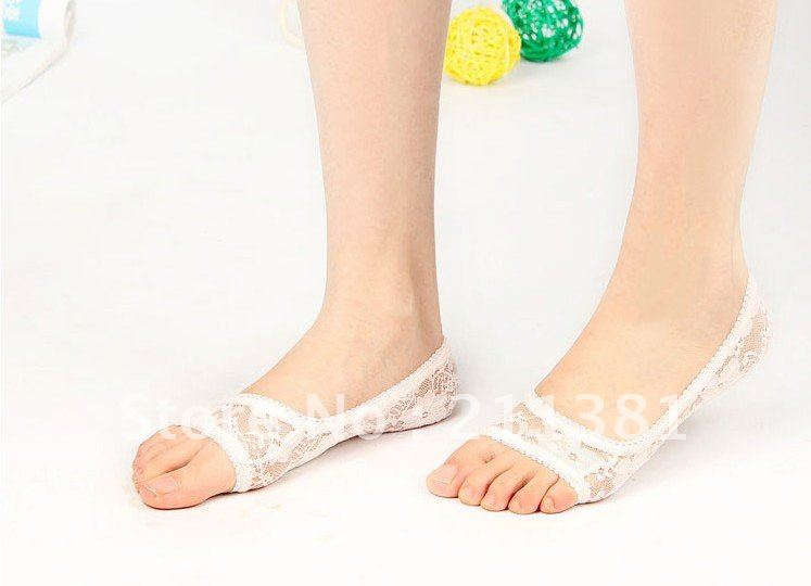 free shipping women's ankle socks invisible socks,anti -slip pad lace brioche high-heeled shoes brioche 12 pairs/lot SM08