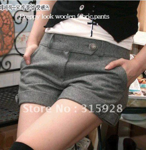 Free Shipping women's autumn winter woolen casual shorts pants boots 2055 coats