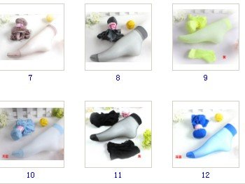 free shipping women's candy colors Socks crystal silk socks cute short thin silk stockings multi colors to select