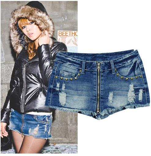 Free Shipping women's fashion Mini jeans pants#A0007