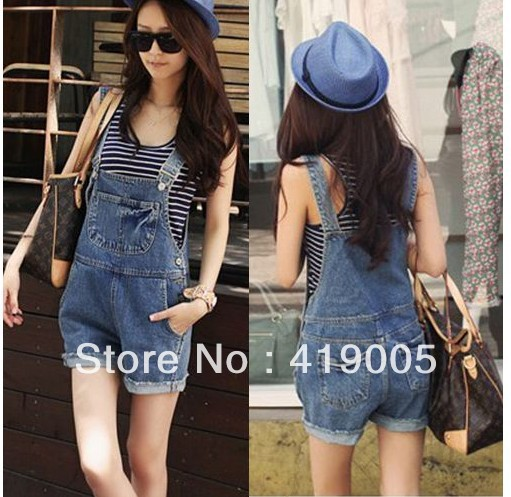 Free shipping Women`s Overalls short Jeans, Suspender trousers Pants Jumpsuit