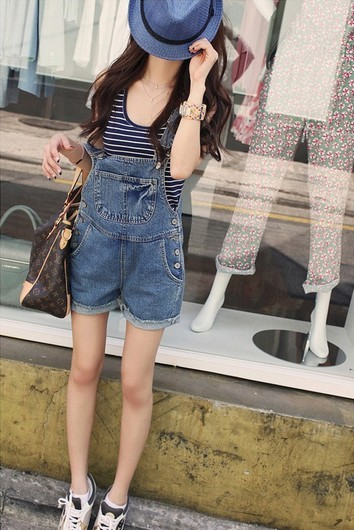 Free shipping Women`s Overalls short Jeans, Suspender trousers  Pants Jumpsuit ,