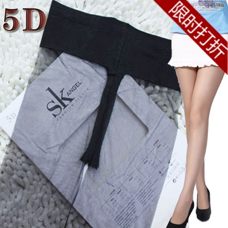 free shipping women's ultra-thin low-waist seamless fully transparent 5D pantyhose stockings tights