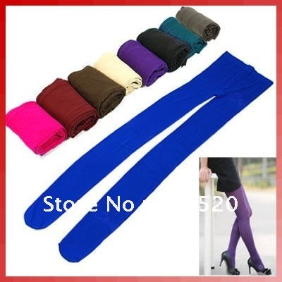 Free Shipping Women's Velvet inside Good Elastic Tights Pantyhose Stocks Thick Autumn&Winter Stockings 9 Color Pick