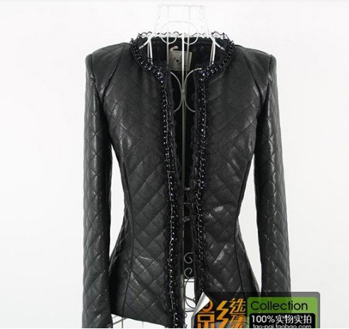 Free Shipping women sexy   New fashion Women's pu Leather Jacket /Lady Coat /Outerwear