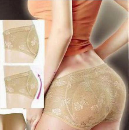 Free Shipping/women sexy padded panties/Body Shaper Underwear/Bottoms Up lace and  floral design