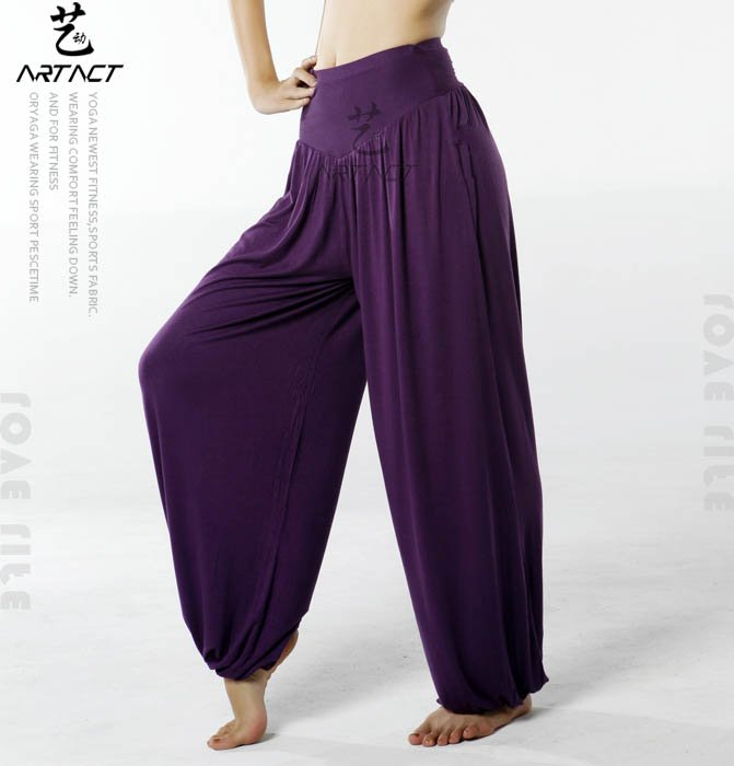 free shipping women yoga pants sleep bottoms /Harem pants /bloomers./sport dance wear loose-fitting Style 95%bamboo fiber