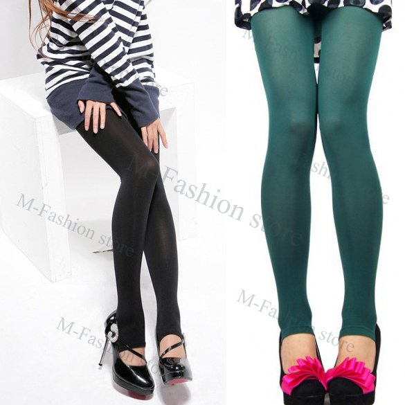 free shipping2012 new fashion Women's Opaque Tights Pantyhose 5 Colors Stockings Leggings Black/Grey/Purple/Coffee/Green 3345
