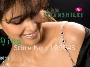 Free Shippingh  ,1 pcs, 3 color crystal bra strap rhinestone bra shoulder strap ! Handamde Shoulder Diamond  Fashion Bra Strap