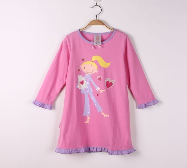 Free shippng 2013 hot sale  NEW model casual pink color 100%cotton material baby girls blanket sleepers children/kids skirts