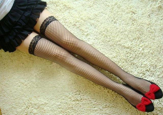 Free shippping pantyhose fishnet stockings wire socks female free size Middle net 02