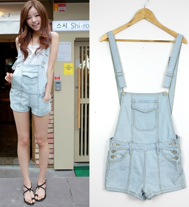 Free  shoping  Fashion denim fit Bib.Rompers TB 3031