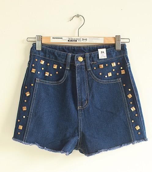 Free  shoping   street fashion oranges fit denim shorts.. TB 3075