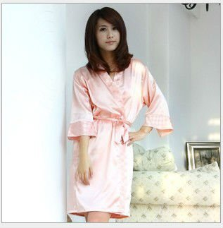 Free shopping,2012 new women's pajamas,lovely  small check camis sexy pink/blue/rose/light pink Two pieces Nightgown gown.