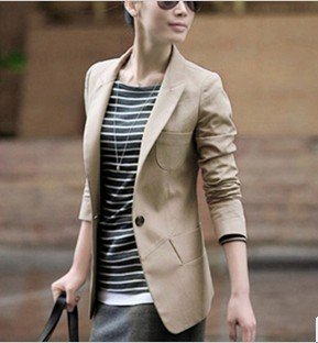 Free shopping!Spring new 2012 new women's Korean version of cultivating a long section of the small suit women suit coat