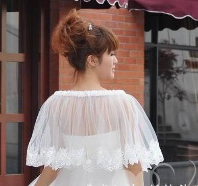Free Size summer Ivory Wedding Jacket Bridal Wrap Bridal Shawl Free Shipping