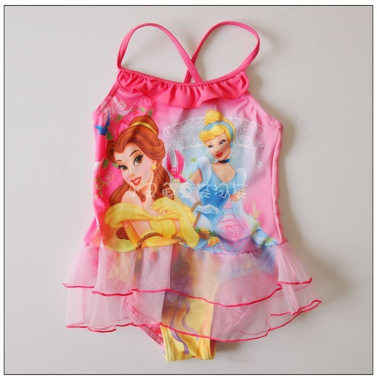 freeshipping 10pcs/lot cute beauty girls swimwear kids swimwear good qualiy Five size for girls