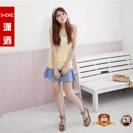Freeshipping 2012 candy color fashion all-match elastic waist shorts culottes Wholesale and Retail