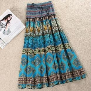 Freeshipping 2012 new productsFlax skirt Bohemian women's dress national wind summer dress exotic geometric long dress
