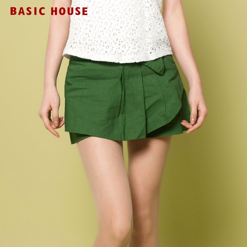 Freeshipping BASIC HOUSE women's all-match shorts hlpt320v