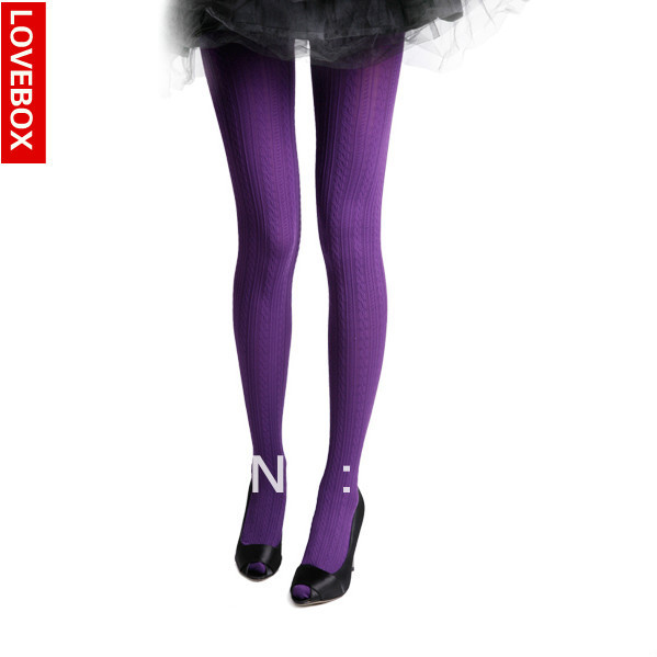Freeshipping Lovebox female velvet three-dimensional twist pantyhose ladies' stockings 280d pantyhose