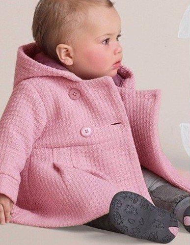 Freeshipping pink overcoat for baby 80-100cm 3 sizes,baby wear,any size only 15.99$,fashon baby clothese 2012 new version