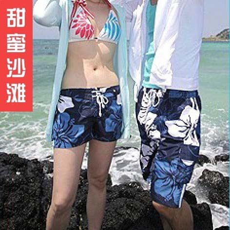 Freesjipping Sweet beach 2012 lovers beach pants lovers summer beach pants shorts