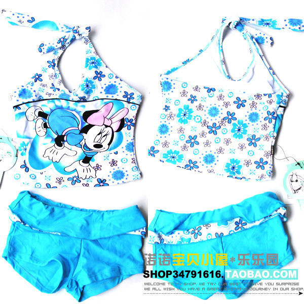 Fresh blue hot-selling split swimsuit MINNIE baby